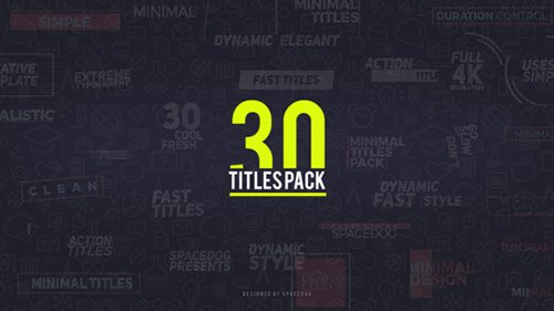 30 Titles Pack - Project for After Effects (Videohive)