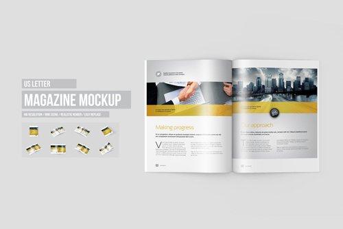 US Letter Magazine / Brochure Mock-Ups