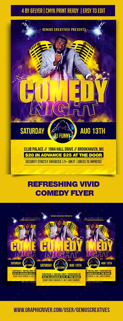 Comedy Night Flyer Template 19753243