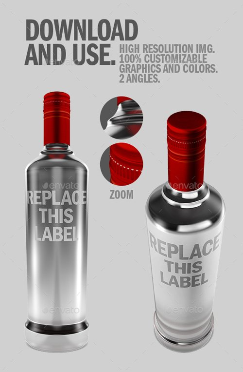 Liquor Bottle .PSD Mockup 19742287
