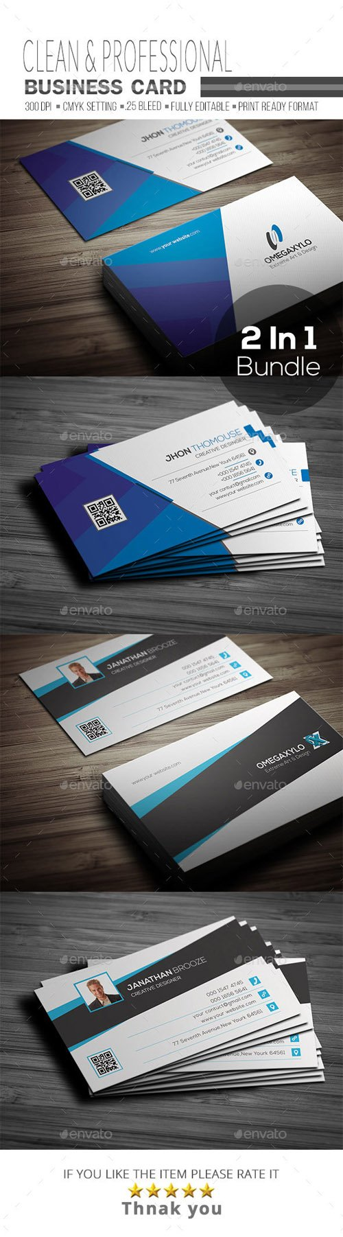Business Card Bundle 2 In 1 19754850