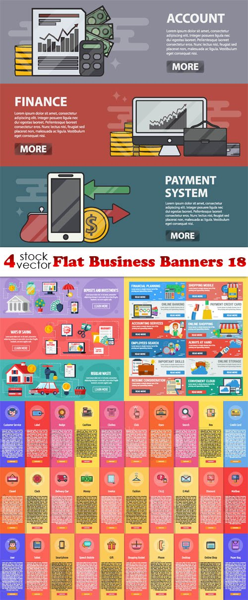 Vectors - Flat Business Banners 18