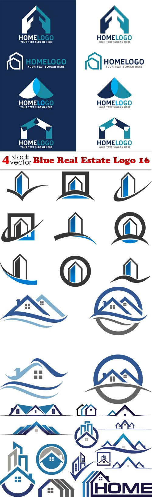Vectors - Blue Real Estate Logo 16