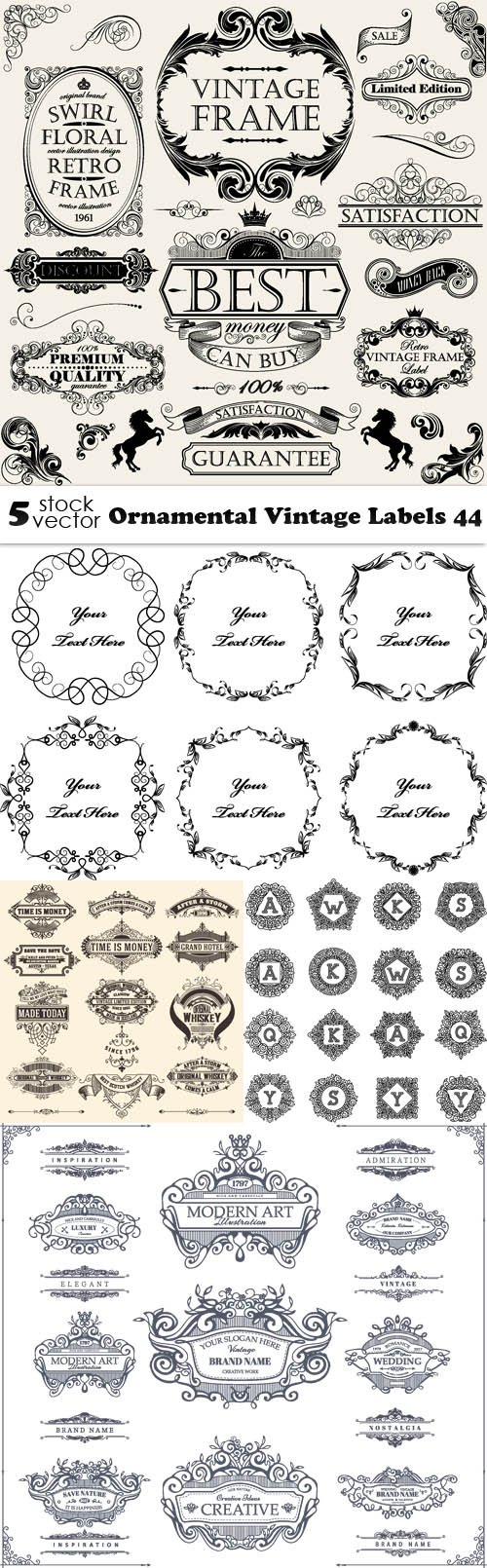 Vectors - Ornamental Vintage Labels 44