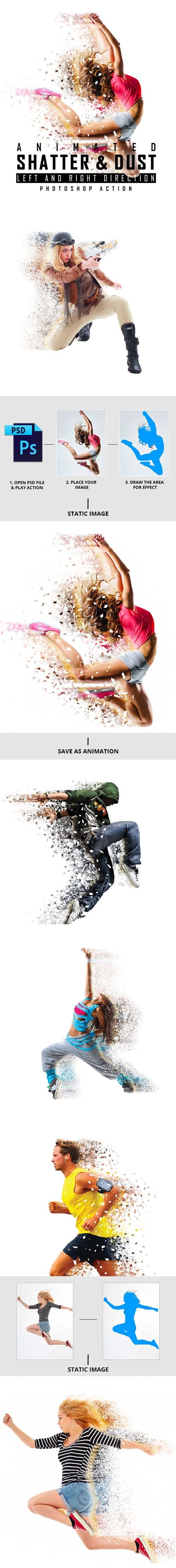 GR - Animated Shatter And Dust Photoshop Action 19731726