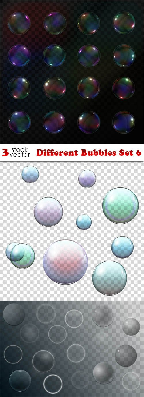 Vectors - Different Bubbles Set 6