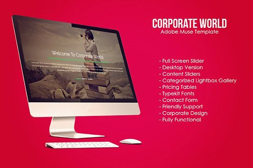 Corporate World Muse Template - CM 628954