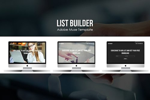 List Builder Muse Marketing Template - CM 497225