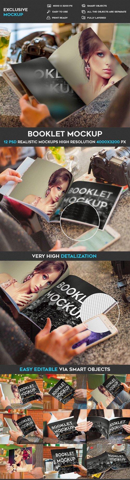 Booklet - 12 PSD Mockups