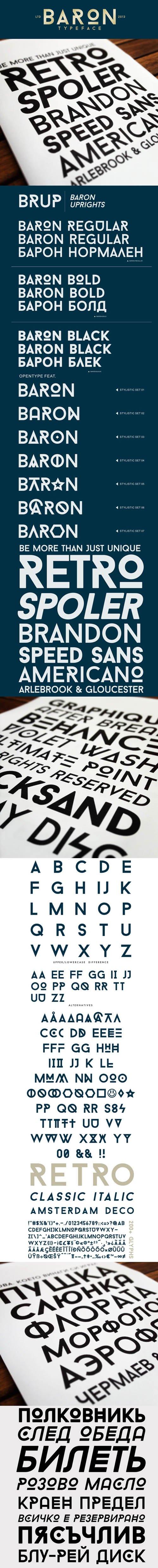 Baron Font - Decorative Sans Serif Family