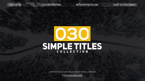 Simple Titles 19626743 - Project for After Effects (Videohive)