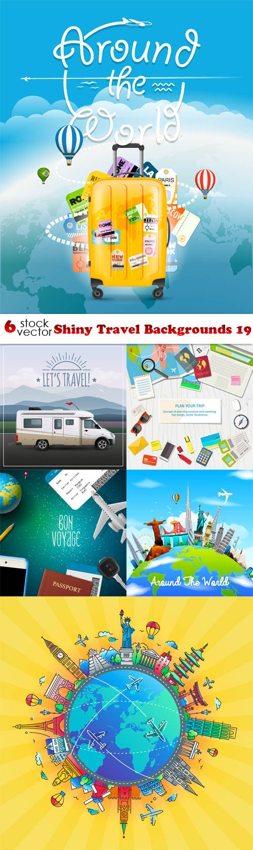 Vectors - Shiny Travel Backgrounds 19
