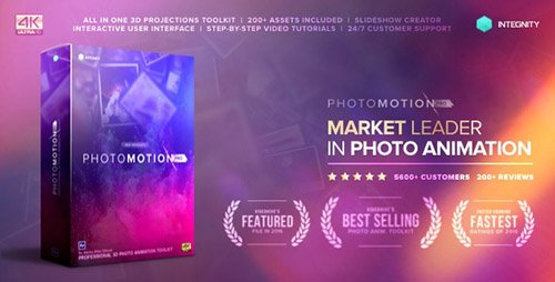 Photo Motion Pro - Professional 3D Photo Animator - Project for After Effects (with 3 February 17 Up...