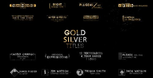 Golden Titles V.2 - Project for After Effects (Videohive)