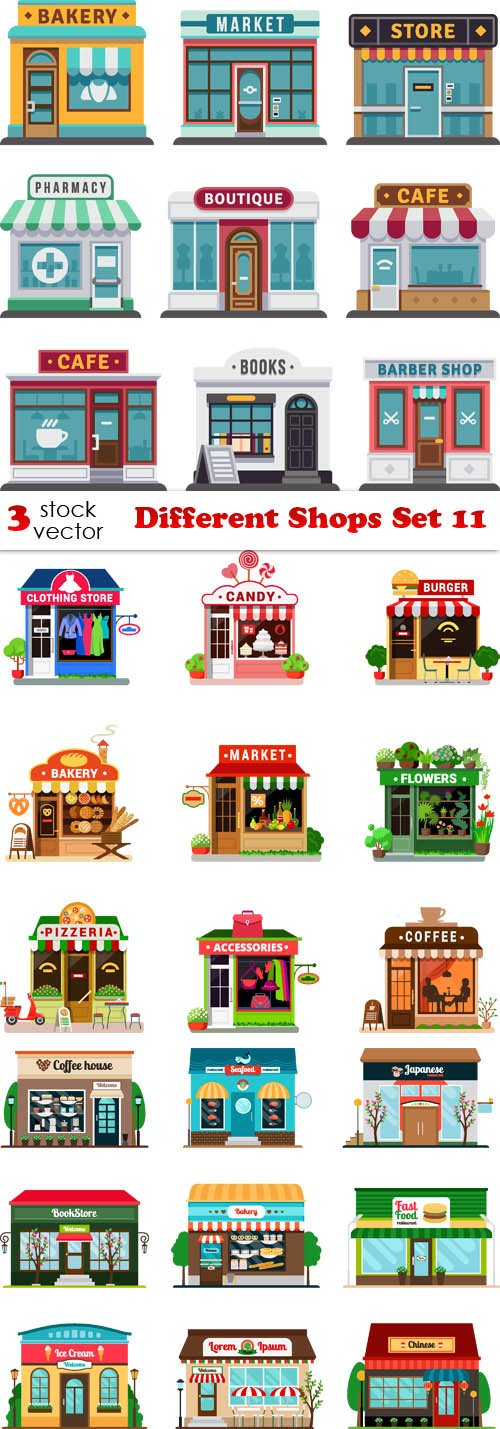 Vectors - Different Shops Set 11