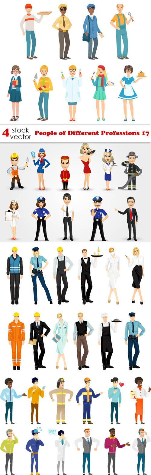 Vectors - People of Different Professions 17