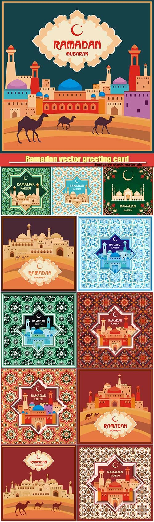 Ramadan vector greeting card