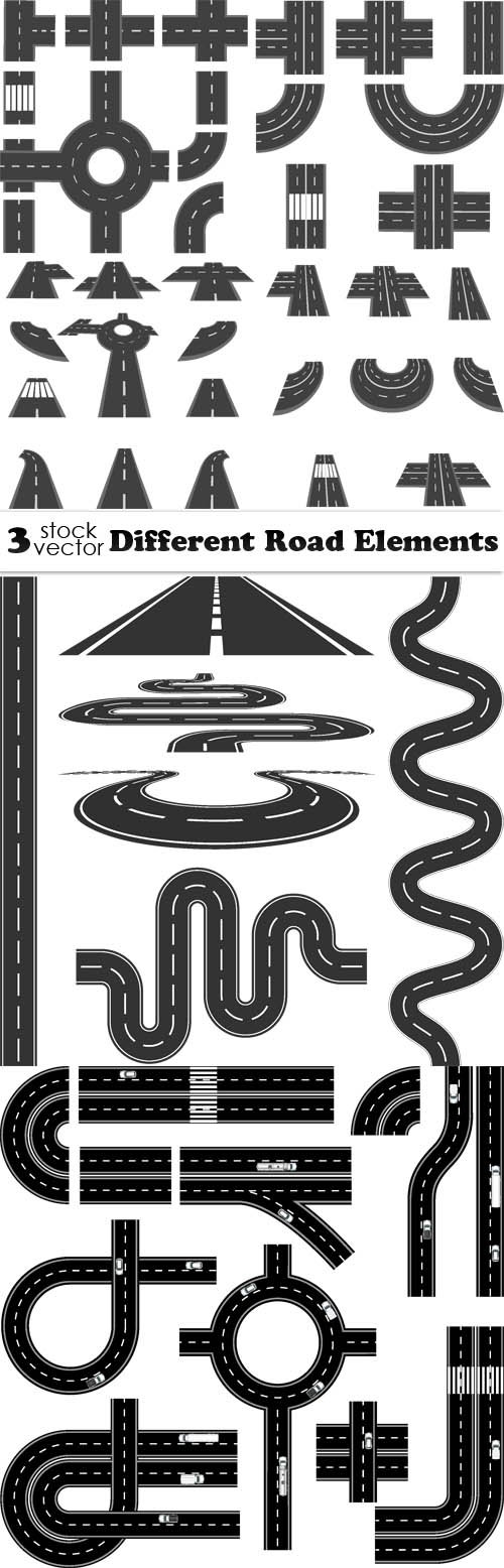 Vectors - Different Road Elements