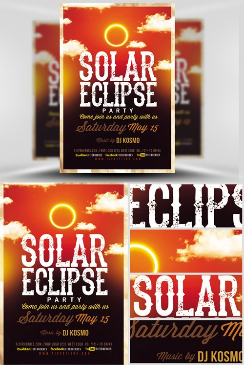 Flyer Template - Solar Eclipse Party V2