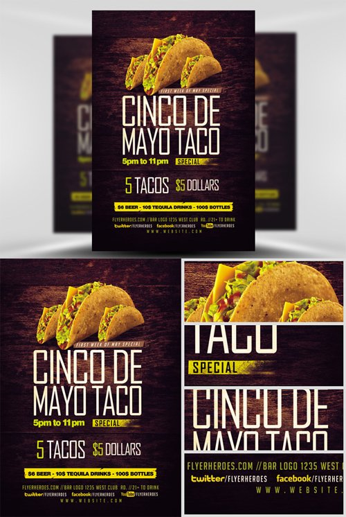Flyer Template - Cinco De Mayo Special