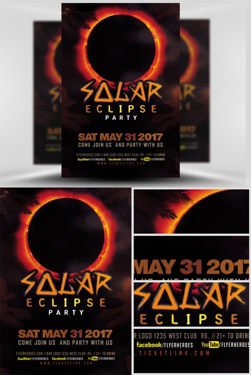 Flyer Template - Solar Eclipse Party