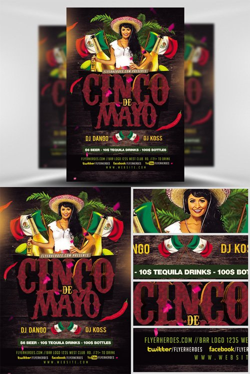 Flyer Template - Cinco De Mayo V2 2017