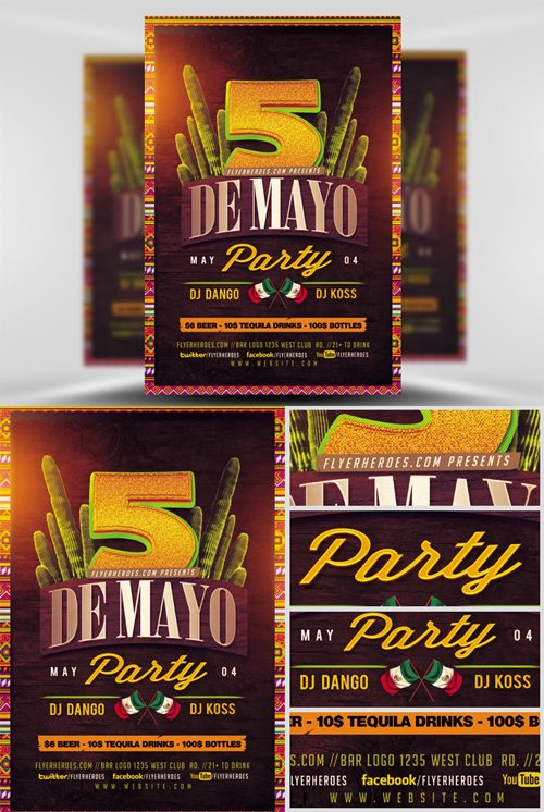 Flyer Template - Cinco De Mayo 2017