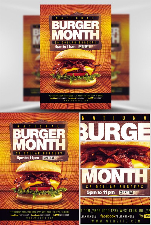 Flyer Template - Burger Month