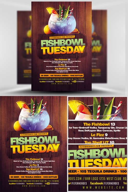 Flyer Template - Fish Bowl Tuesday