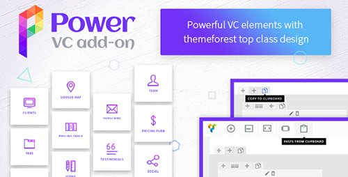 CodeCanyon - Power VC Add-on v1.0.3 - Powerful Elements for Visual Composer - 19500571