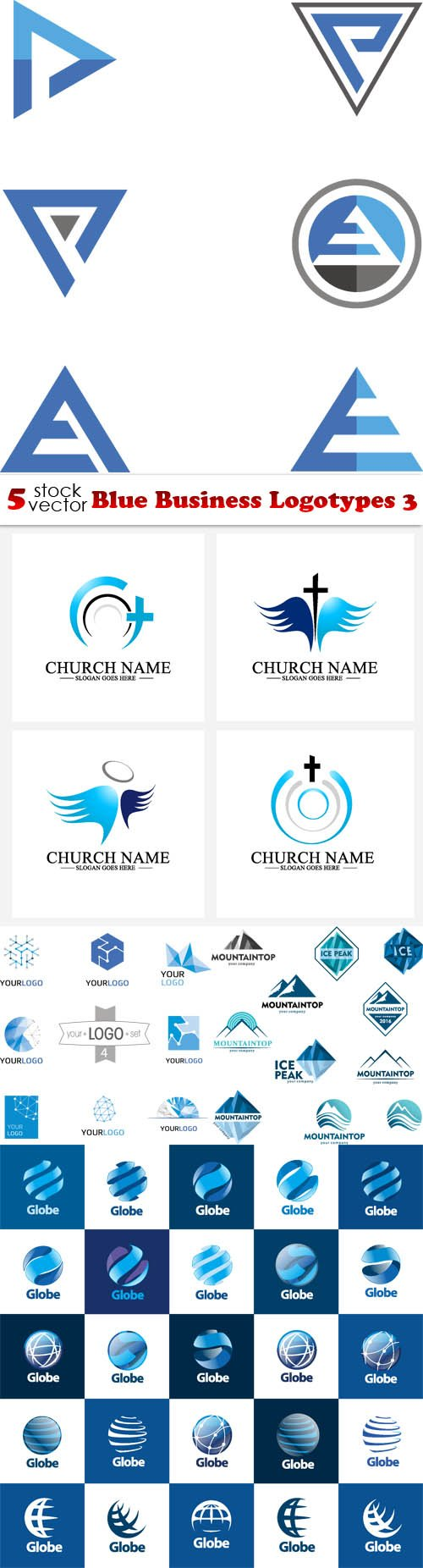 Vectors - Blue Business Logotypes 3