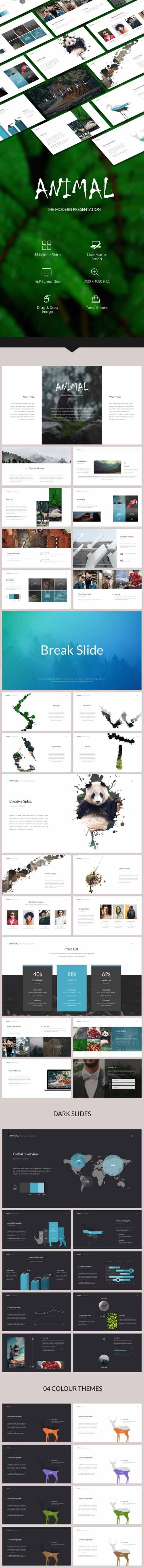 Animal Powerpoint Template 19773226