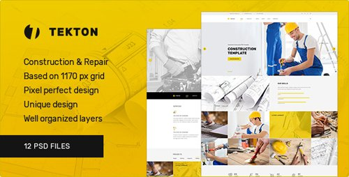 ThemeForest - Tekton - Construction and Repair PSD Template 19136407