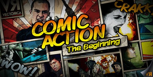 Comic Action - The Beginning - Project for After Effects (Videohive)