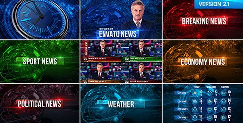 Broadcast Design News Package 19550533 - Project for After Effects (Videohive) 2,79 GB