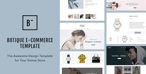 ThemeForest - Botique v1.0 - Responsive Multi-Purpose eCommerce PSD Template - 19743830