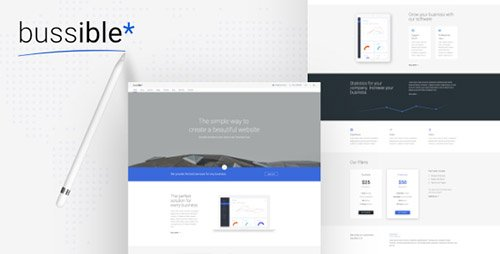 ThemeForest - Bussible v1.1 - Soft Material Corporate, Finance, Startup HTML Template - 19715195