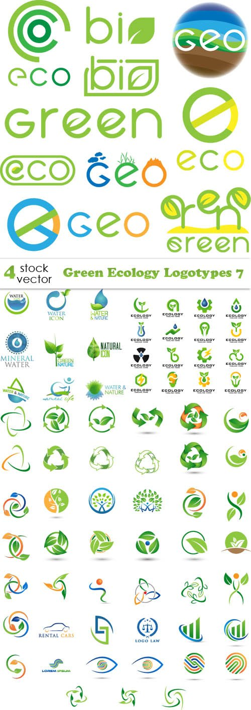 Vectors - Green Ecology Logotypes 7