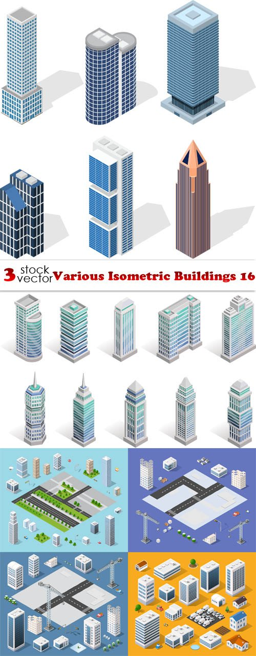 Vectors - Various Isometric Buildings 16