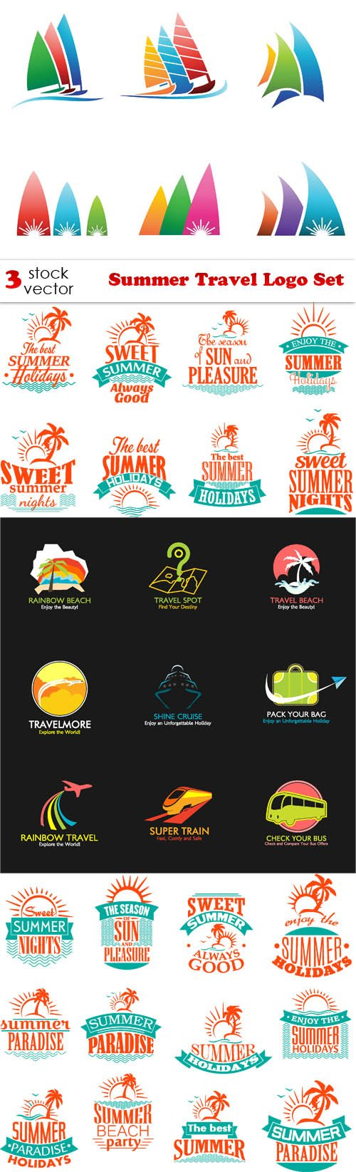Vectors - Summer Travel Logo Set