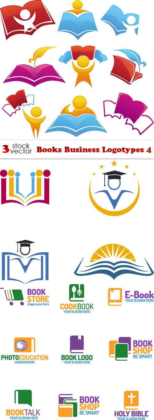 Vectors - Books Business Logotypes 4