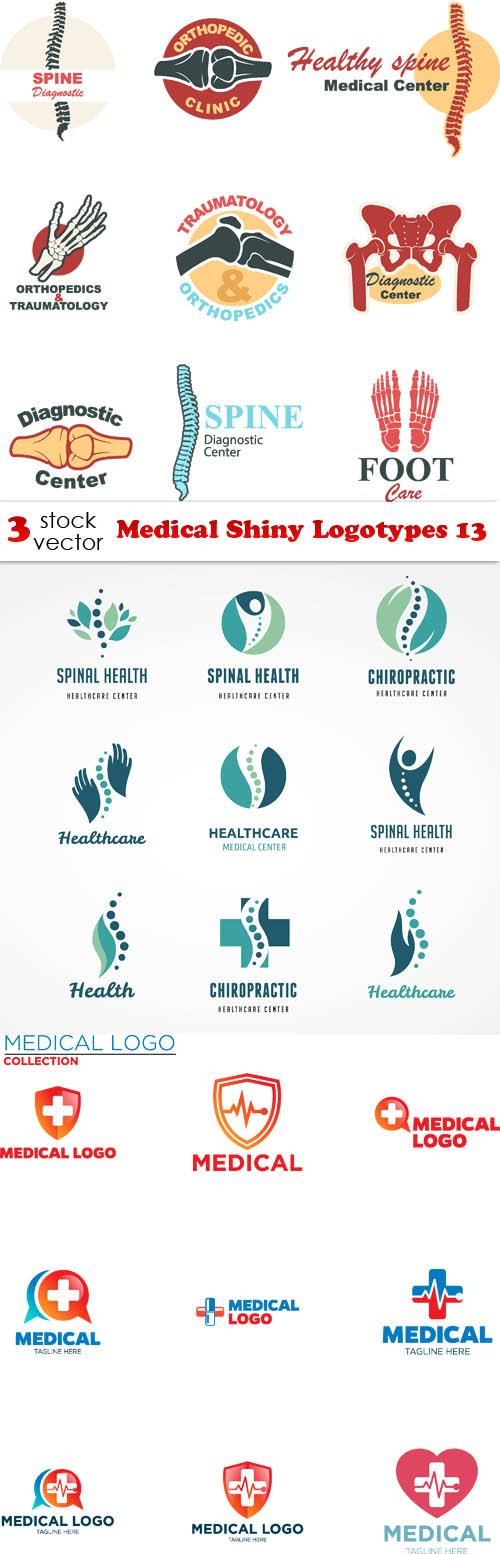 Vectors - Medical Shiny Logotypes 13