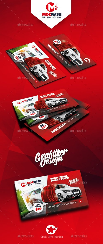 GR - Car Wash Business Card Templates 19674195