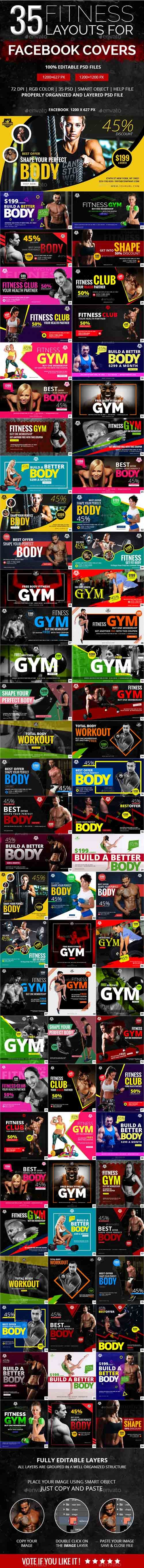 GR - 70 Fitness Facebook Banners 19724623
