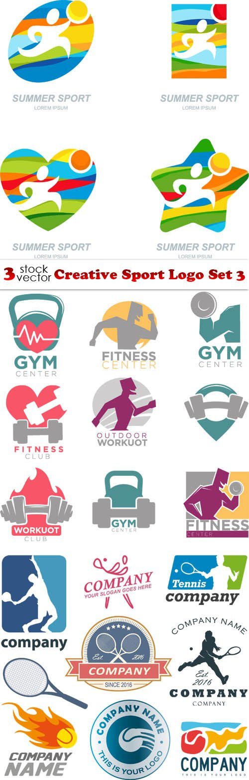 Vectors - Creative Sport Logo Set 3