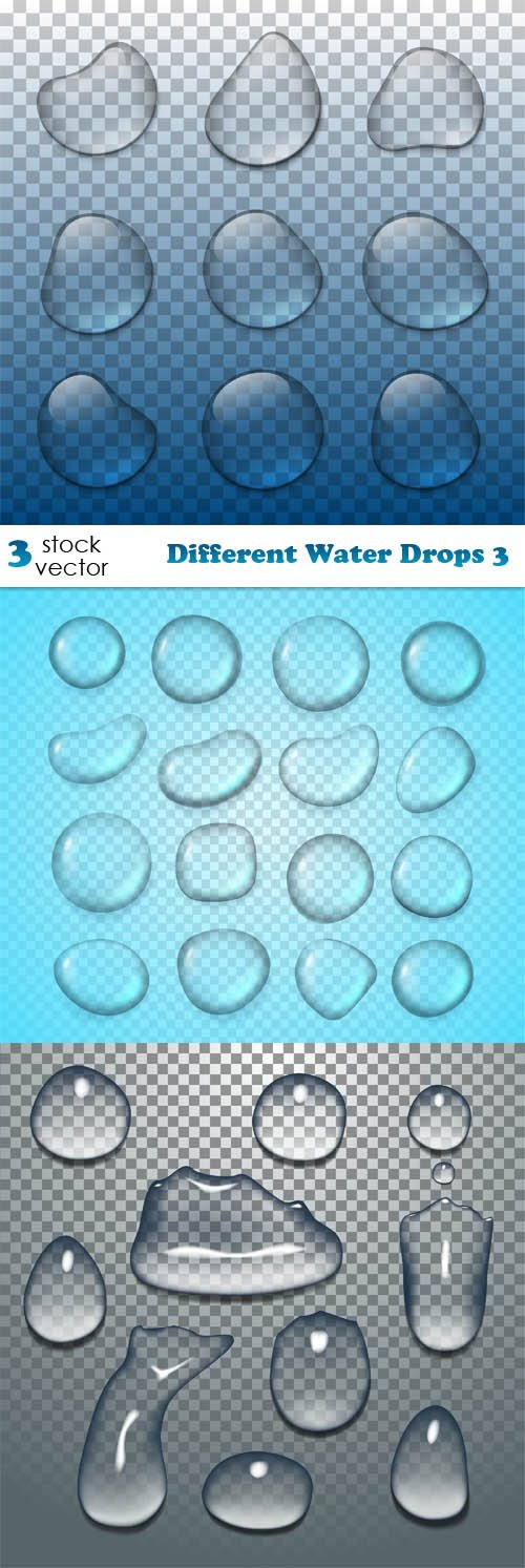 Vectors - Different Water Drops 3