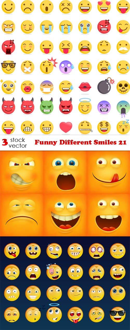 Vectors - Funny Different Smiles 21