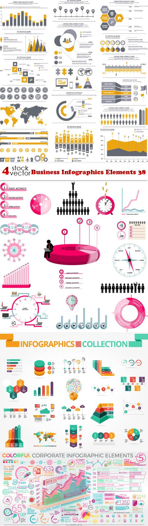 Vectors - Business Infographics Elements 38