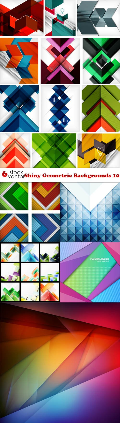 Vectors - Shiny Geometric Backgrounds 10