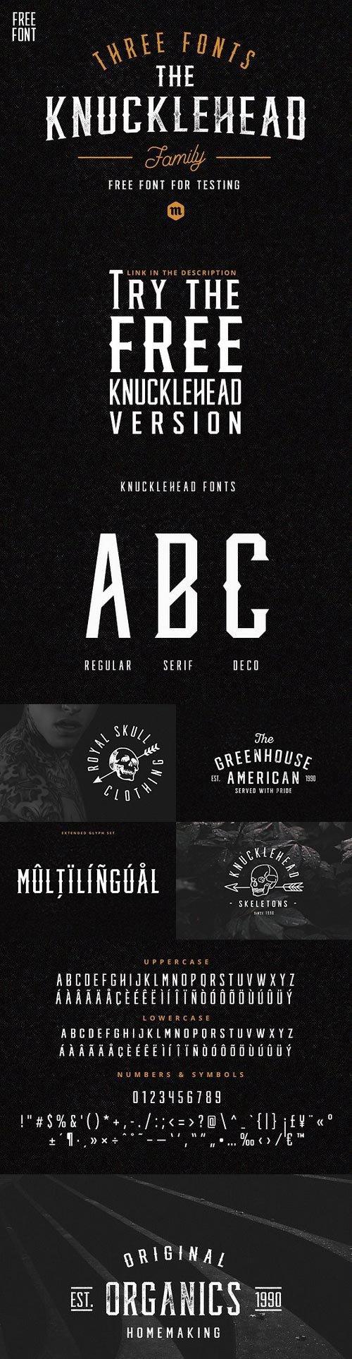 Knucklehead Typeface 953261